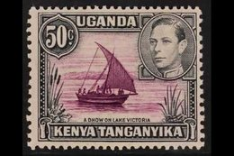 1938 50c Purple And Black, Rope Not Joined To Sail, SG 144a, Very Fine Mint. For More Images, Please Visit Http://www.sa - Publishers