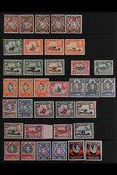 1938-54 KGVI DEFINITIVE ISSUE Fine Mint Range Incl. 10c. Perf. 14, 15c Perf. 13¼, 20c All Three Perfs, 30c All Three Per - Vide