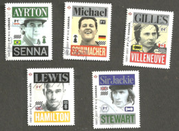 Sc # 2993-97 Formula 1 Grand Pre Du Canada Winners, Booklet Set Used 2017 K118 - 1952-.... Règne D'Elizabeth II