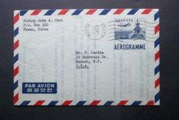 Korea, South, R.O.K.: 1963 Aerogramme To USA (#YS11) - Korea, South