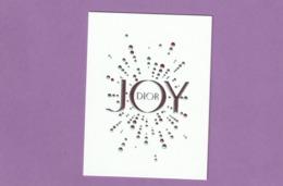 Carte  ** JOY** - Cartes Parfumées