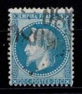 France Napoléon III Lauré 1868 - YT N°29B - Oblitéré - 1863-1870 Napoléon III Lauré