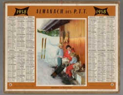 Calendrier Almanach Des P.T.T 1958 - Calendriers