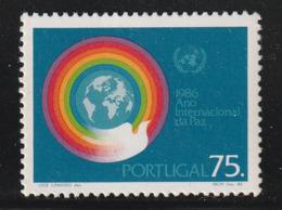 PORTUGAL - N°1656 ** (1986) Paix - Unused Stamps