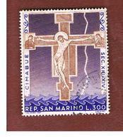 SAN MARINO - UNIF. 754 - 1967 CIMABUE: LA CROCEFISSIONE   -  USATI (USED°) - Usati