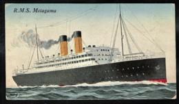 Ship R.M.S Metagama Sent Liverpool 1920 > Lausanne / CH - Paquebots