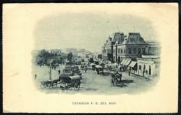 BUENOS AIRES Estacion Ferro Carril Del Sud Ca 1900 - Argentine