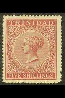 1869 5s Rose-lake, CC Wmk, SG 87, Fine Mint For More Images, Please Visit Http://www.sandafayre.com/itemdetails.aspx?s=5 - Trinidad & Tobago (...-1961)