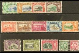 1938-44 Pictorial Definitive Set, SG 246/56, Fine Mint (14 Stamps) For More Images, Please Visit Http://www.sandafayre.c - Trinidad & Tobago (...-1961)