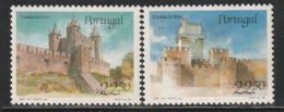 PORTUGAL - N°1657/8 ** (1986) Châteaux  (I) - Ongebruikt