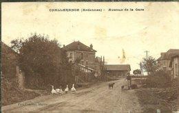 08 Ardennes CHALLERANGE Avenue De La Gare Animée - France