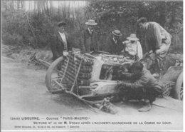 """LIBOURNE   COURSE """" PARIS MADRID     L ' ACCIDENT ACCROCHAGE DE LA COMBE DU LOUP - Sport Automobile"""