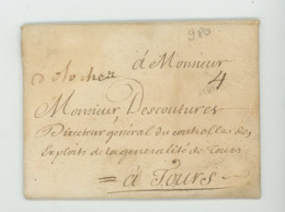 TAXE MANUSCRITE à 4 Deci SUR LETTRE DE 1717 - Marcophilie (Lettres)
