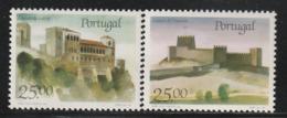 PORTUGAL - N°1697/8 ** (1987) Châteaux  (V) - Ongebruikt