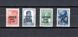 Letonia   1941 .-   Y&T  Nº   1/2 - 4/5   **    Ocupación Alemana - Letonia