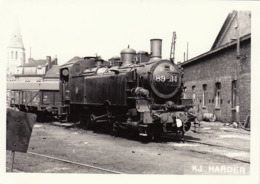Photo SNCB NMBS Chemins De Fer Belges Train Locomotive Cachet Cliché KJ Harder - Treni