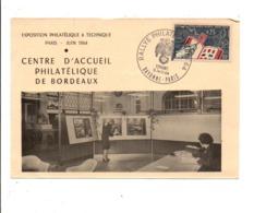 OBLITERATION RALLYE PHILATEC 64 - BAYONNE-PARIS - Commemorative Postmarks