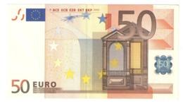 "50 EURO ""X"" R006A1 AU - EURO"
