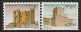 PORTUGAL - N°1735/6 ** (1988) Châteaux  (IX) - Ongebruikt