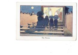 Cpa Illustration Ernest Ibbetson - Edit. C.W. Faulkner S.1028 - The PIERROTS - Pierrot Scène Spectacle Théâtre Concert - Illustratori & Fotografie