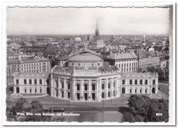 Wien, Blick Vom Rathaus Auf Burgtheater ( Folded Down On The Left ) - Wien Mitte