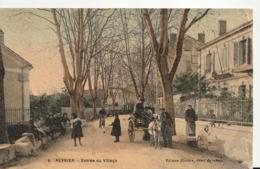 Reynier ( Alpes De Haute Provence) Entrée Du Village , Animée - France