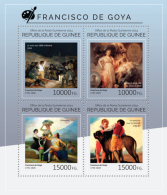 GUINEA 2014 - F. Goya, Napoleonic Wars - YT 7422-5; CV=25 € - Napoléon
