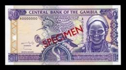 Gambia 50 Dalasis 1996 Pick 19s Specimen SC UNC - Gambia