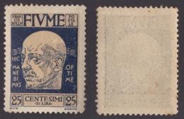 FIUME !!! 1920 25 CT. EFFIGIE DI D'ANNUNZIO !!! 119 - Fiume
