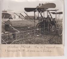 AEROBUS BLERIOT VUE DE L'APPAREIL 8 PASSAGERS ASSIS SUR LE FUSELAGE 18*13CM Maurice-Louis BRANGER PARÍS (1874-1950) - Aviación