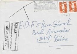 TP N ° 3009 En 2 Ex  Sur Enveloppe De  Ducey Avec Taxe à Percevoir De 5,50fr - 1961-....