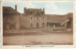 D35 - IFFENDIE - L'ECOLE LIBRE DES GARCONS - Carte Colorisée - Autres Communes