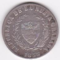 Colombie Nueva Granada . 2 Reales 1853 Bogota . Argent . KM# 109 - Colombia
