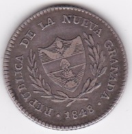 Colombie Nueva Granada. 2 Reales 1848 Bogota . Argent . KM# 105 - Colombia