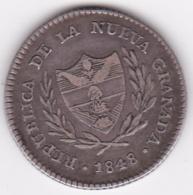 Colombie Nueva Granada. 2 Reales 1848 Bogota . Argent . KM# 105 - Colombie