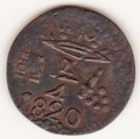 Colombie, Santa Marta, 1/4 REAL 1820, Royaliste Coinage, KM# 2, - Colombie