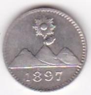 Guatemala 1/4 Real 1897 En Argent KM# 162 - Guatemala