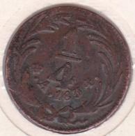 Mexico FIRST REPUBLIC 1/4 Real 1834 En Cuivre KM# 358 - Mexico