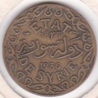 ETAT DE SYRIE. 5 PIASTRES 1936 En Bronze Aluminium - Syrie