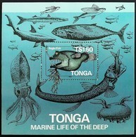 Tonga 1985**Mi.913  Exploration Of The Tonga Trench , MNH [19;174] - Pesci