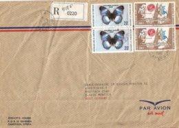 Cameroon Cameroun 1980 Buea Apollo XI Moonlanding Armstrong Butterfly Registered Cover - Kameroen (1960-...)