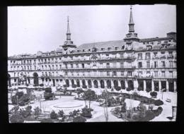 Plaza Mayor Of Madrid SPAIN - Magic Lantern Slide (lanterne Magique) - Plaques De Verre