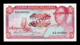 Gambia 5 Dalasis 1987-1990 Pick 9a Specimen SC UNC - Gambia