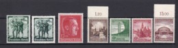 Deutsches Reich - 1938 - Michel Nr. 662/668 - Postfrisch - 44 Euro - Alemania