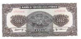 AK-div.28- 210  - China  5 Yuan  - 1941 Nr. 172925 - Billets