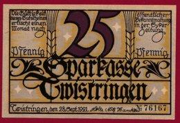 Allemagne 1 Notgeld 25 Pfenning Stadt Twistringen (Série Complète 3 Notgeld) (RARE)  Dans L 'état N °4759 - Collections