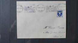Lettre De Nogent Sur Marne  1957  Obliteration Mécanique   Illustrée Fete Du Petit Vin Blanc - Marcofilia (sobres)