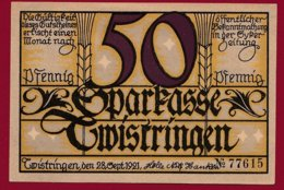 Allemagne 1 Notgeld 50 Pfenning Stadt Twistringen (Série Complète 3 Notgeld) (RARE)  Dans L 'état N °4760 - Collections