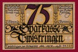 Allemagne 1 Notgeld 75 Pfenning Stadt Twistringen (Série Complète 3 Notgeld) (RARE)  Dans L 'état N °4761 - Collections