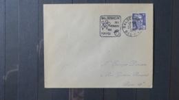 Lettre De Baldenheim   1952  Obliteration Mécanique  Daguin  Illustrée Pommes Vergers - Marcofilia (sobres)